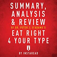 Summary, Analysis & Review of Peter J. D'Adamo's Eat Right 4 Your Type by Instaread | Livre audio Auteur(s) :  Instaread Narrateur(s) : Dwight Equitz