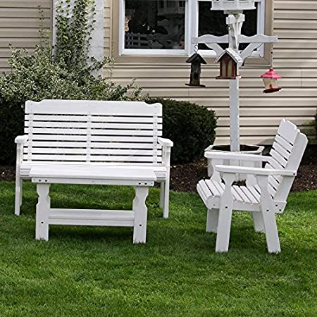 Amish Heavy Duty Classic 3 Pc. Pressure Treated Conversation Set (Semi-Solid White Stain)
