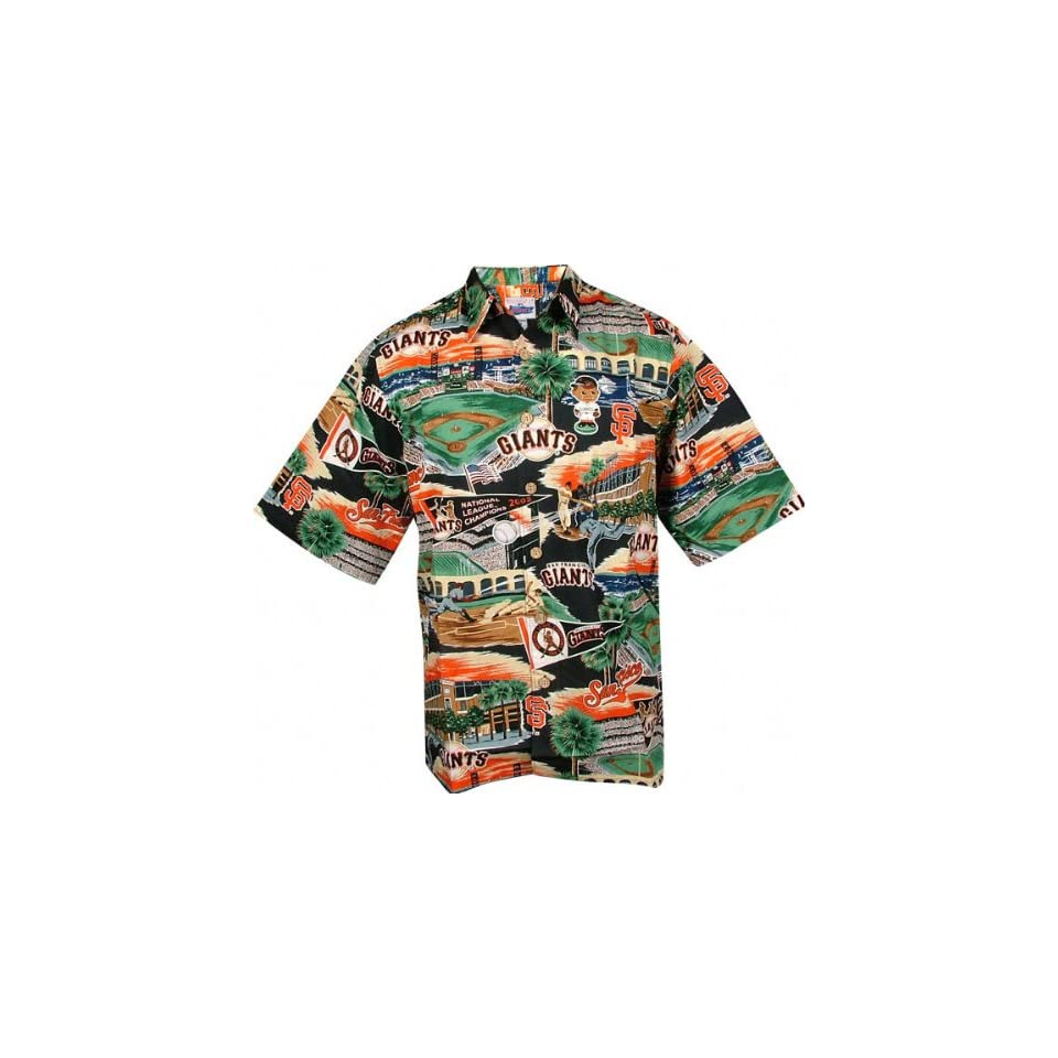 San Francisco Giants Hawaiian Shirt   Medium
