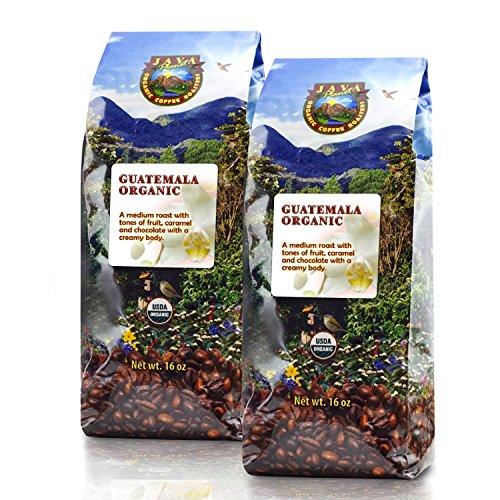 Java Planet - Guatemalan USDA Organic Coffee Beans, Medium Roast, Shade Grown, Bird Friendly, Rainforest Alliance, Arabica Gourmet Specialty Grade A - packaged in 2 1 LB bags (Green Coffee Beans Columbian compare prices)