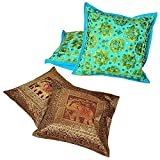 Ufc Mart Buy Cushion Cover Set N Get Cushion Cover Set Free, Color: Turquoise,#Ufc00399
