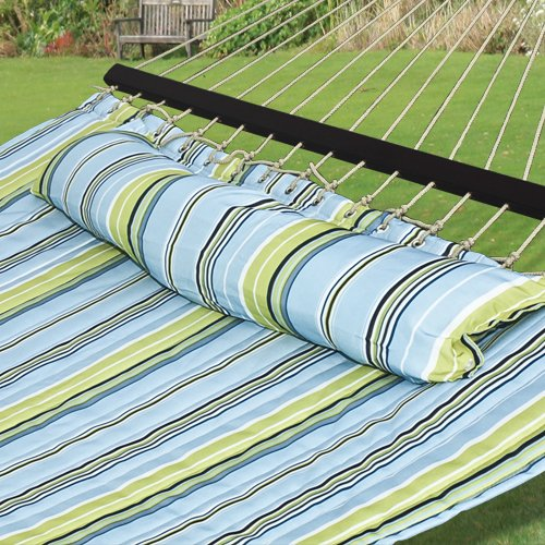Best Choice Products® Hammock Quilted Fabric With Pillow Double Size Spreader Bar Heavy Duty Brand New