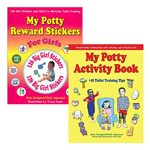 Potty Training Kit For Girls: 126 Reward Stickers, Chart, And Coloring Activity Book With 45 Of The Best Toilet Training Tips For Parents