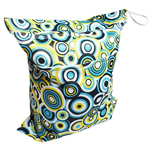 Baby Wet And Dry Cloth Diaper Bags, Circle Printed back-815756