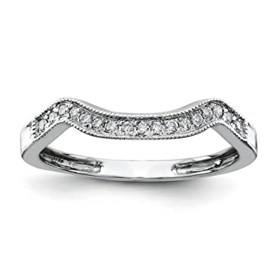 14ct White Gold Diamond Wedding Band Ring