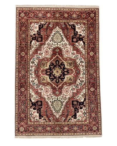 eCarpet Gallery One-of-a-Kind Hand-Knotted Serapi Heritage Rug, Dark Red, 5' 11 x 9'
