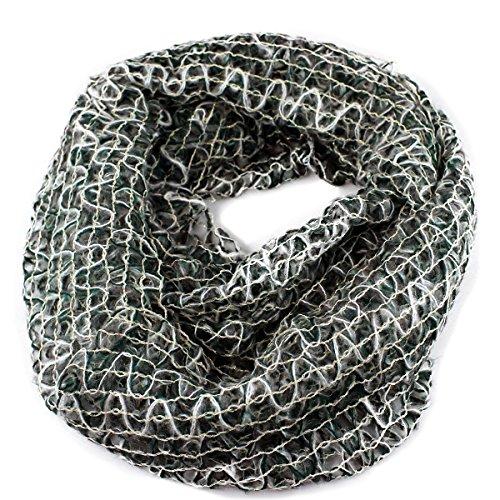 Sparkle Loop Design Infinity Scarf, Green