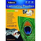 Fellowes  5351002 Pochettes de plastification brillantes Impress 100 microns A5 - Pack de 100 Transparent