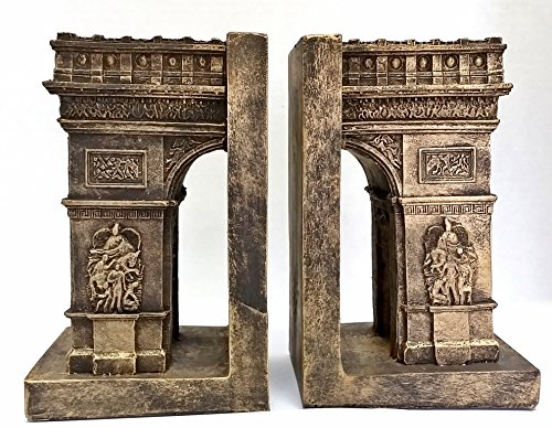 Bellaa Decorative Bookends Arc De Triomphe Paris - Paris Attractions Book Ends