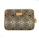iClover Leopard Print Canvas Neoprene 15 Inch Laptop Sleeve Bag Dell / Hp /Lenovo/sony/ Toshiba / Ausa /Acer /Samsun Ultrabook Case Cover Netbook / Laptop / Notebook Computer/15.6 inch Macbook/Macbook Pro /Macbook Retina/ MacBook Air Sleeve Case Bag Cover 15 inch Bag