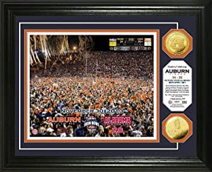 Auburn Tigers Miracle Finish Gold Coin Photo Mint by Highland Mint