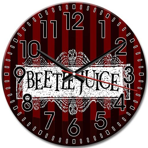 Personalized Arabic Numbers Frameless Simple Beetlejuice tv Round Wall Clock Quiet 10 Inch / 25 cm Diameter