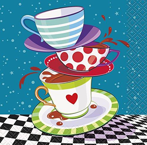 Unique Party 49501 - Tovaglioli di Carta Tea Party Cappellaio Matto, Confezione da 16