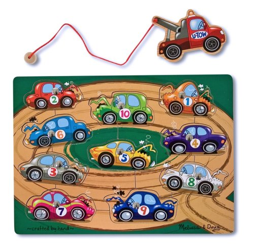 Melissa & Doug Tow Truck Magnetic Puzzle Game Picture