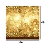 10x10ft Golden Glittering Wedding Backdrop,Vinyl Cloth GradeAAAAA Backgrounds (Color: Glittering(10x10ft), Tamaño: 3x3m (10 x 10ft))