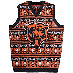 e072a85f5e2 KLEW NFL Chicago Bears Ugly Sweater Vest