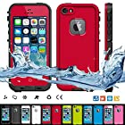 Pioneer Tech® Hot sell Shock waterproof case heavy duty dirt reststant cover for Apple Iphone 5 5s (Red)