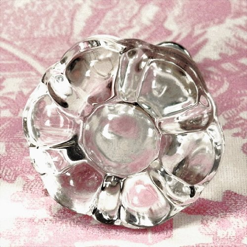 Kitchen Cabinets With Glass Knobs: Vintage Clear Flower Glass Cabinet Knobs (8) Kitchen