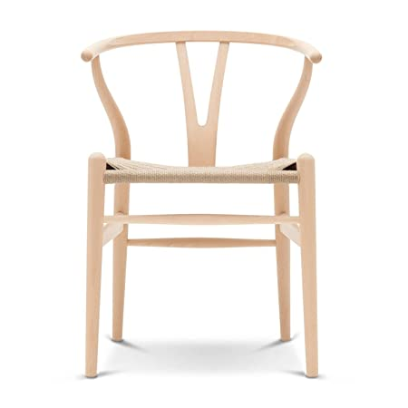 Carl Hansen Wishbone CH24 Armchair beech/soaped/paper cord natural