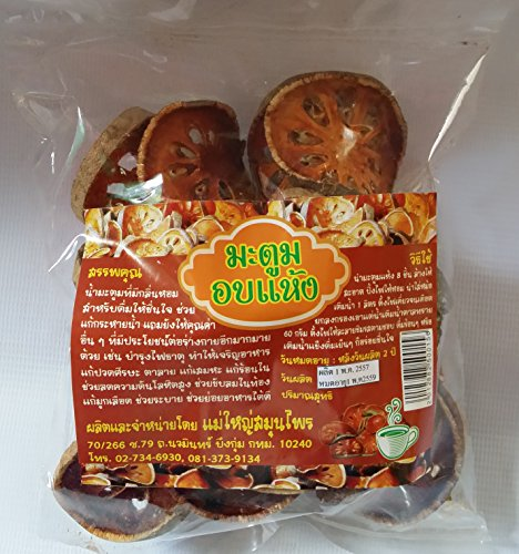Organic Dried Bael Fruit 100% Natural for Healthy Net Wt 100 G X 3 Packs (Aloe Juice With No Sugar Added compare prices)