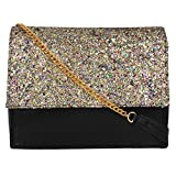 Berrypeckers Black Glitters Sling Bag