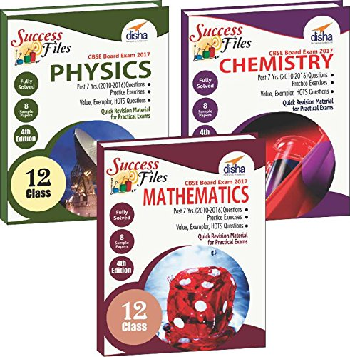 CBSE Class 12 Physics, Chemistry & Mathematics Success Files - Concept Maps, Question Bank & 8 Sample Papers