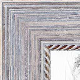 ArtToFrames 16x20 /  16  x  20 Picture Frame Distressed White  ..  1.625\'\' wide (WOMB-CM-621)
