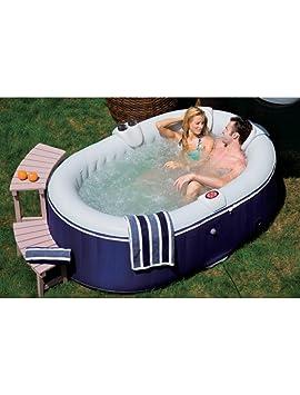o 39 spazia as03 spa gonflable ovale ovale pour 4 personnes bleu 660 l sports l sports et. Black Bedroom Furniture Sets. Home Design Ideas