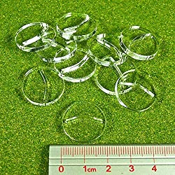 Paper Miniature Bases, 20mm Circle, 3mm Clear (25)