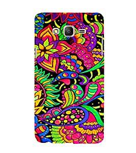 Leafs Flowers Floral 3D Hard Polycarbonate Designer Back Case Cover for Samsung Galaxy On7 Pro :: Samsung Galaxy ON 7 Pro