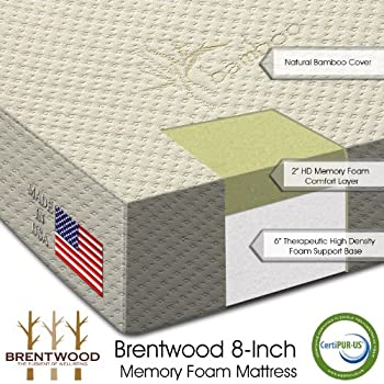 Brentwood 8' HD Memory Foam Special RV Replacement Mattress  100