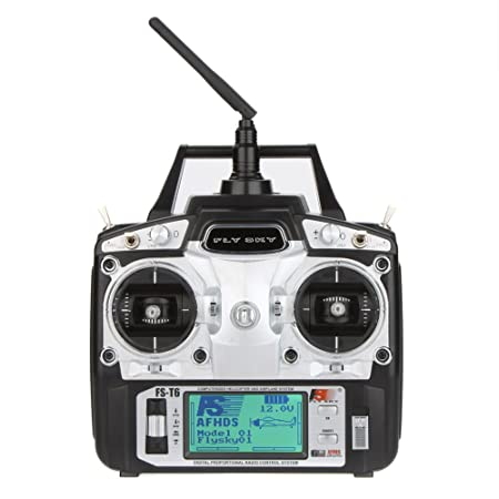 FlySky FS-T6 2.4G Helicopter Digital Proportional 6 Channel Transmitter and Receiver System by Flysky