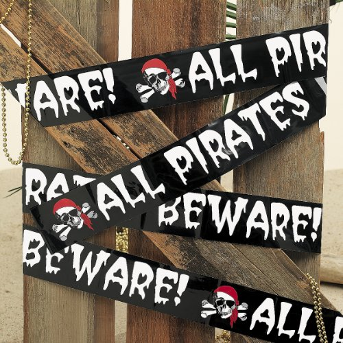 Plastic Pirate Decoration Boundary Tape (Pirate Decoration)