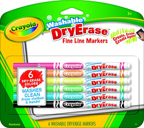 Crayola Fine Line Washable Dry Erase Markers (6 Count) (Numbers Dry Erase compare prices)
