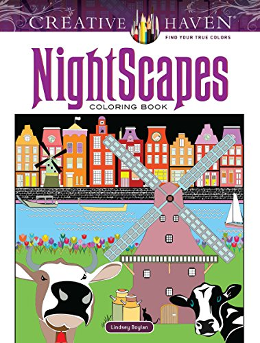 Creative Haven NightScapes Coloring Book (Adult Coloring) [Boylan, Lindsey] (Tapa Blanda)