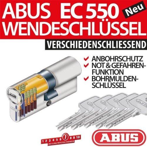 Abus EC 550 - Cilindro di sicurezza per serratura, con 5 chiavi 35/35