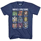 Marvel Avengers Spider-Man Hulk Thor Iron Man Black Panther Strange America Mens Adult Graphic Tee T-Shirt (Large)
