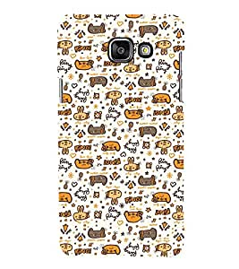 99Sublimation Animated Pattern Ring Ring 3D Hard Polycarbonate Designer Back Case Cover for Samsung Phones
