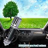 MOST HEALTHY Car Air Purifier Ionizer | Removes Cigarette Smoke, Bacteria, Unbearable Odor Smell | Helps With Allergies | Mini Auto Small Gadget Pure Air Odor Cleaner & Smoke Eater Eliminator Remover - Black - Made By EXTRA-O