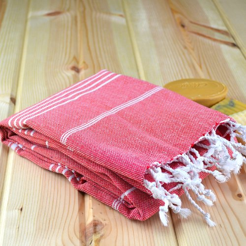 Image of Traditional Turkish Towel Pestemal Large Quick Dry Luxury Thin Eco Bathrobe Pool Massage Bath Hamam Spa Sauna Beach Gym Yoga Baby Fouta 100% Cotton