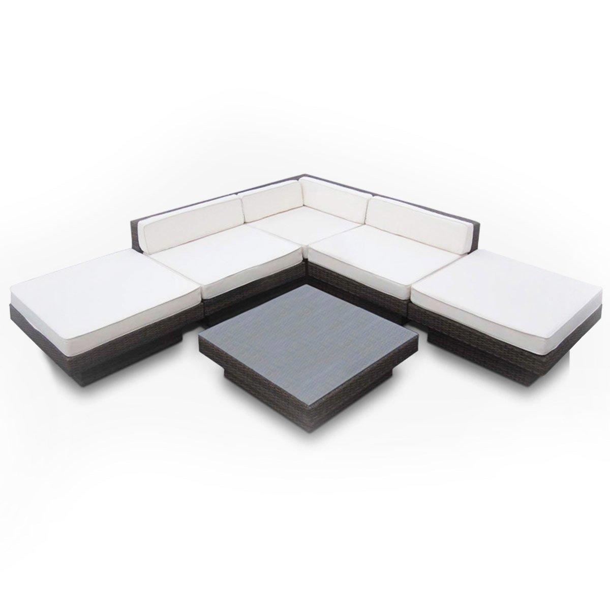 Premium Poly-Rattan Lounge Set Sitzgruppe XXL Sitzgarnitur Sitzgruppe Gartenmöbel Gartengarnitur 270x270cm