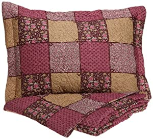 Cathay Home Fashions Luxury Silky Soft Rose and Bows Mini Quilt Set, Full/Queen