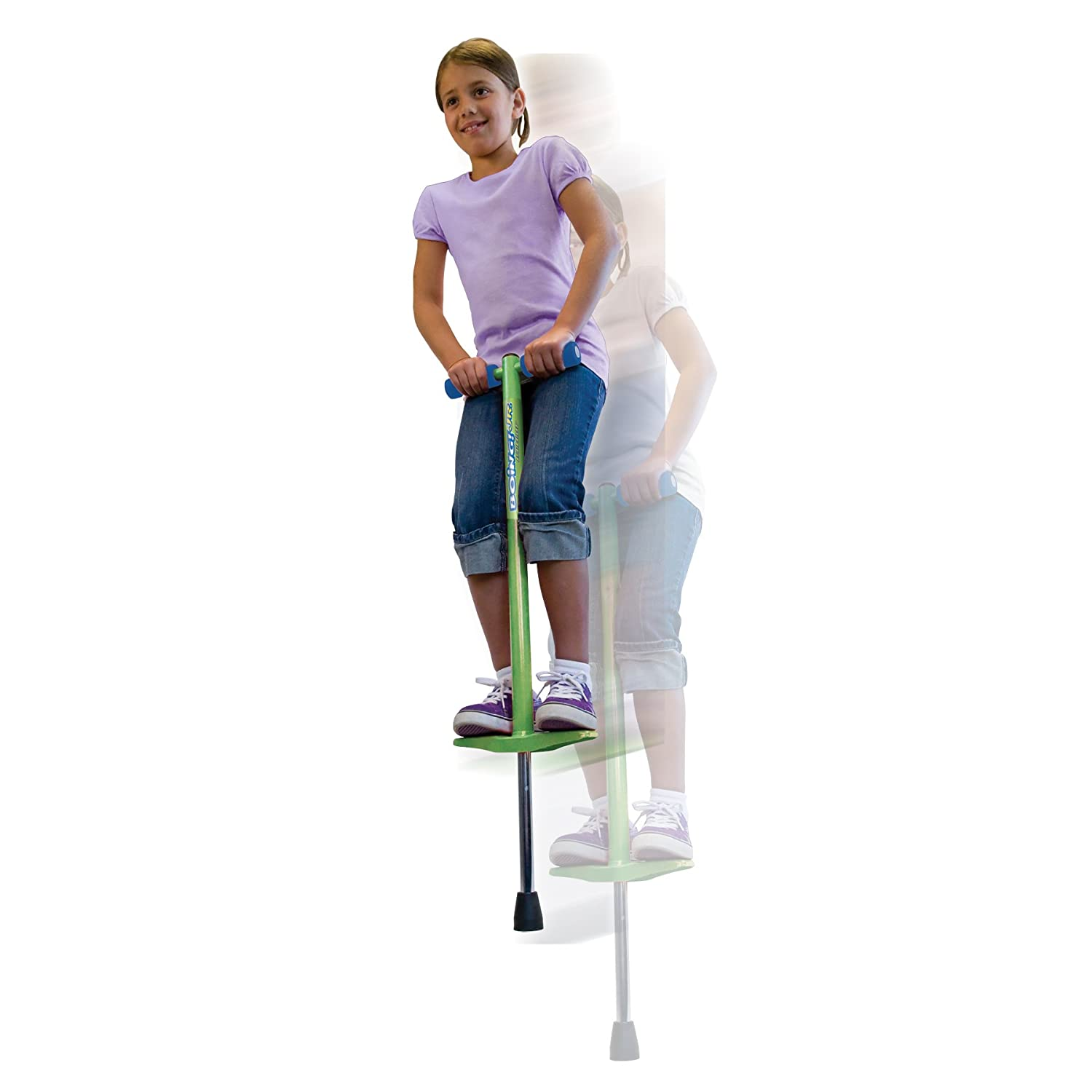 Jumparoo BOING! JR. Pogo Stick by Air Kicks, Small for Kids 40 to 80 Lbs. (18-36 kgs)
