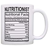 Registered Nutritionist Gifts for Women Nutritionist Nutritional Facts Nutritionist Graduation Gift Ideas Gift Coffee Mug Tea Cup White (Color: White)