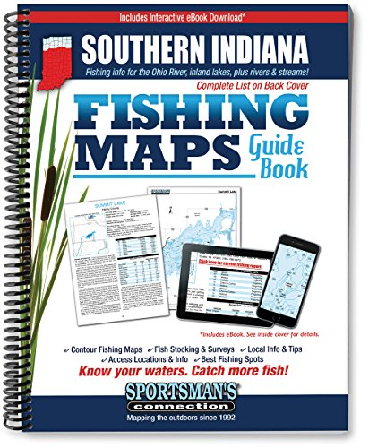 Southern Indiana Fishing Map Guide (Fishing Maps from Sportsman's Connection) (Indiana Fishing compare prices)