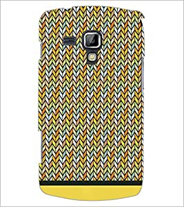 PrintDhaba Zig Zag Pattern D-1695 Back Case Cover for SAMSUNG GALAXY S DUOS S7562 (Multi-Coloured)