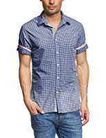 Scotch & Soda - Chemise casual Homme - B.b. check with bright stripes at backside
