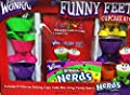 Wonka Funny Feet Cupcake Kit Gift Set with Rainbow Nerds Candy from Wonka