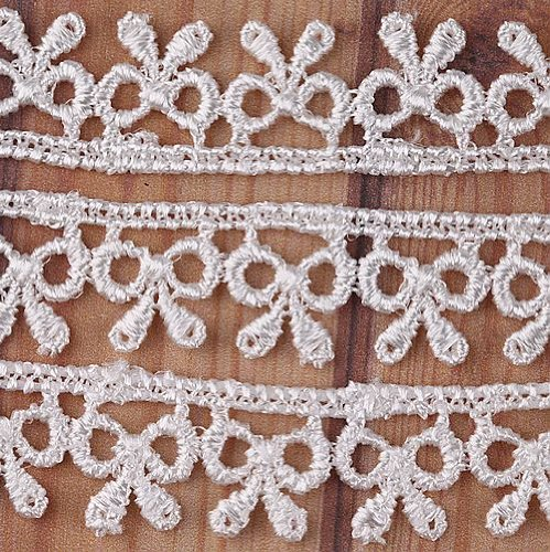 5 Yard Ribbon Pattern Lace Trim Sewing On 5/8'' Inch I0131-1