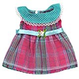 Ebuddy Vintage Grids Dress Doll Clothes For 16 Inch (35-40cm) High Simulation Baby